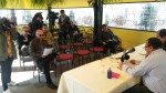 En plena rueda de prensa