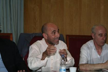Gerardo Morales, en plena exposición