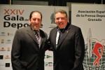 El presidente de la AEPD Granada y Juan Carlos Rodríguez, responsable de comunicación y relaciones institucionales de Coca Cola