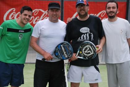 David Sánchez, Antonio Rodríguez, Alejandro Morales y Juan Manuel Álvarez