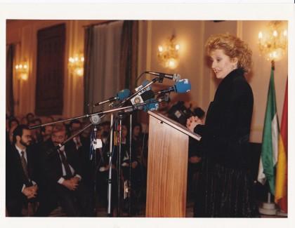 Mari Carmen Izquierdo, presidente de los periodistas deportivos de España