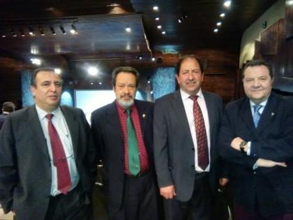 Delegación granadina en la Gala Nacional del Deporte 2016: Pablo Quílez, Antonio Barragán, Antonio Rodríguez y José Cruz