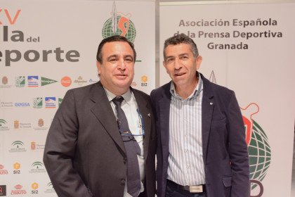 Pablo Quílez (secretario de la AEPD) y Manuel Alarcón, alcalde de Padul
