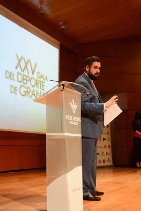 Fran Viñuela fue el presentador de la XXV Gala del Deporte de Granada