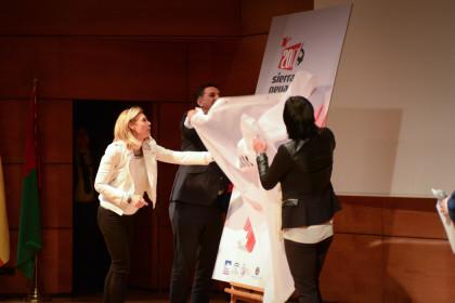 El consejero, Rienda y López descubren el cartel del Mundial de 2017