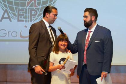 Óscar Fernández agradeció el reconocimiento al club que preside