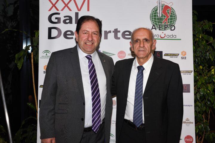 Aurelio Sánchez Vinuesa, acompañado por el presidente de la AEPD Granada