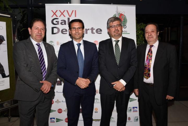 Antonio Rodríguez, José Aurelio Hernández y Antonio Barragán recibieron al alcalde de Granada, Francisco Cuenca