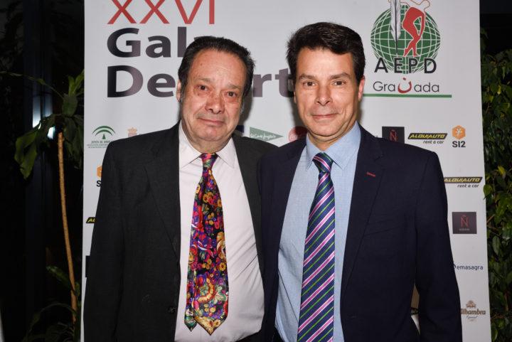 Antonio Barragán, secretario de la AEPD Granada, y Federico Sánchez Aguilera, director gerente de Emasagra