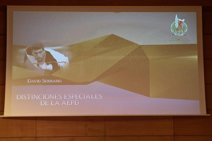 David Serrano, Distinción de la AEPD