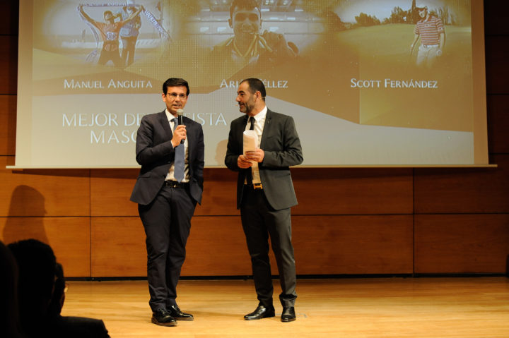El alcalde de Granada, Francisco Cuenca, entregó el premio al Mejor Deportista