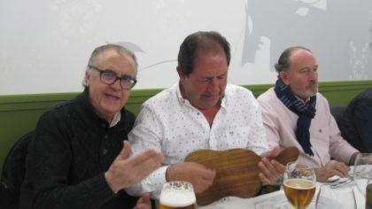 Pedro Baena, al cante, y Antonio Rodríguez, a la tabla