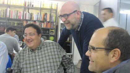 Juanjo Fernández, Alejandro Morales y Manolo Pedreira