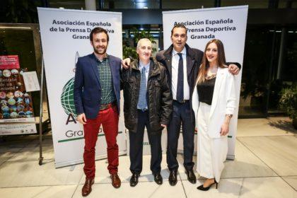 Jorge Ruiz, Fernández Bailón, Óscar Fernández y Noelia Gómez, del CB Granada