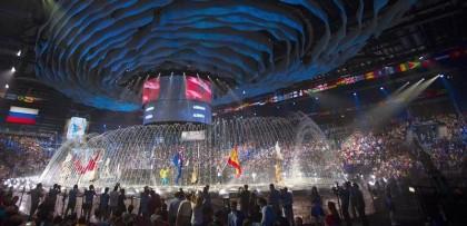 Inauguración del Mundial de natación de Kazán