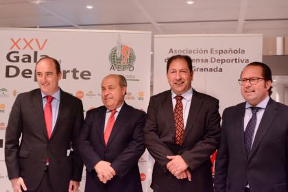 Juan García Montero, José Torres Hurtado, Antonio Rodríguez y Francisco Ledesma