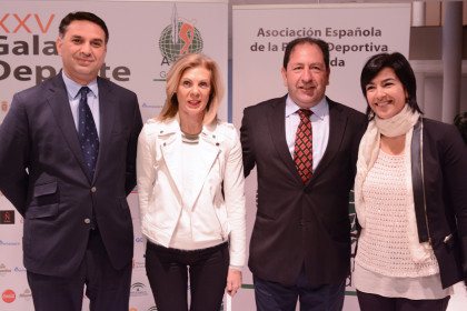 Francisco Javier Fernández, María José López, Antonio Rodríguez y María José Rienda