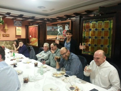Pedro Feixas, Ramón Bujalance, Vicente Gomáriz, Alejandro Morales y Javier Aguilera