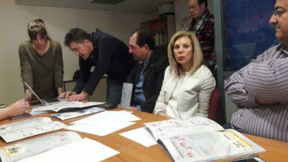 María José López, consejera delegada de Cetursa Sierra Nevada, contesta a una pregunta