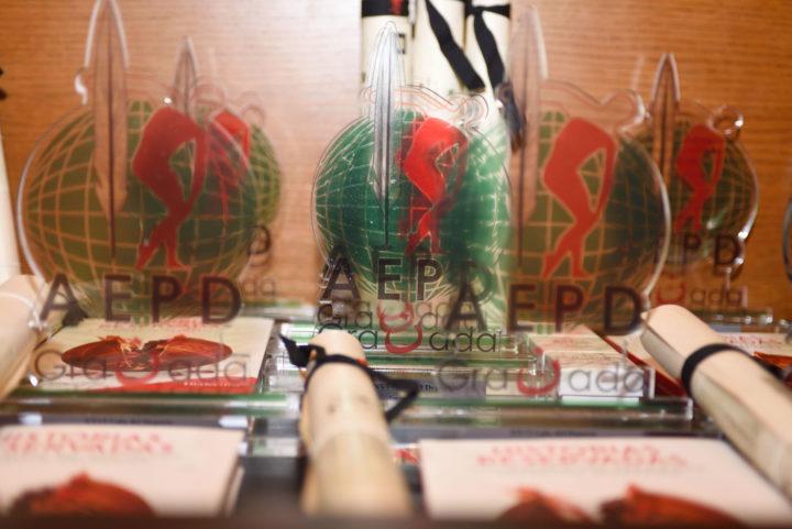 Los trofeos, en primer plano