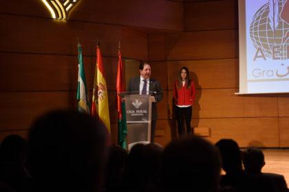 Rodríguez se dirige a los asistentes a la XXVI Gala del Deporte de Granada