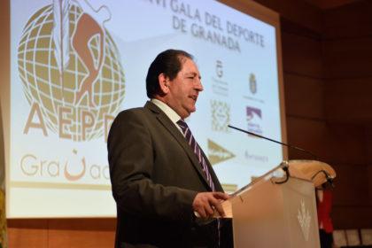 Antonio Rodríguez, presidente de la AEPD Granada en la Gala del 2017