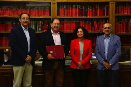 José Maldonado, Antonio Rodríguez, Pilar Aranda y Aurelio Sánchez-Vinuesa