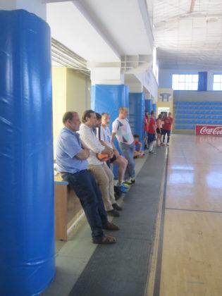 El equipo de Canal Sur viendo la final