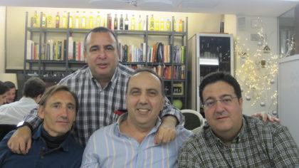 Víctor Romero, Pablo Quílez, Pedro Lara y Juanjo Fernández