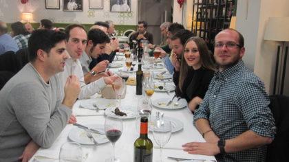Cena de Navidad 2017, con Piñero y Barragán en el recuerdo