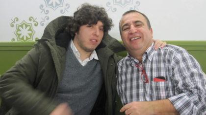 Enrique Abuín y Pablo Quílez, a su llegada