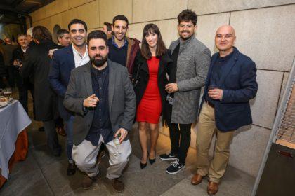 Fran Viñuela (en primer plano), Camilo Álvarez, María Sánchez, Luis Mora y Javier Aguilera