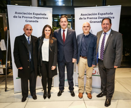 Gerardo Morales, Paula de la Peña, Antonio Fernández, Javier Aguilera y Antonio Rodríguez