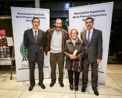 Los directivos de la AEPD Victor Romero y Julio Piñero junto a Enrique Carmona y Pilar Moleón