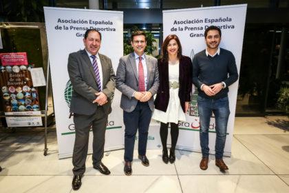 El presidente de la AEPD Granada recibe a Francisco Cuenca, María José Rienda y Eduardo Castillo