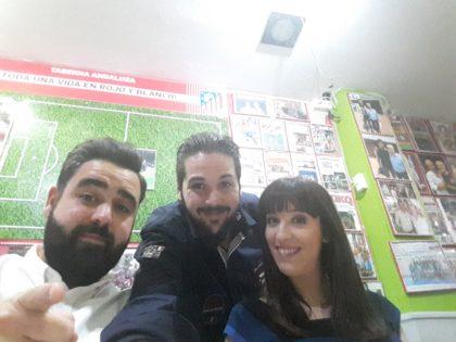 Fran Viñuela, César Guisado y Maria Sánchez