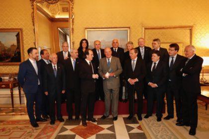 Antonio Rodríguez, en la recepción del Rey Juan Carlos a la AEPD