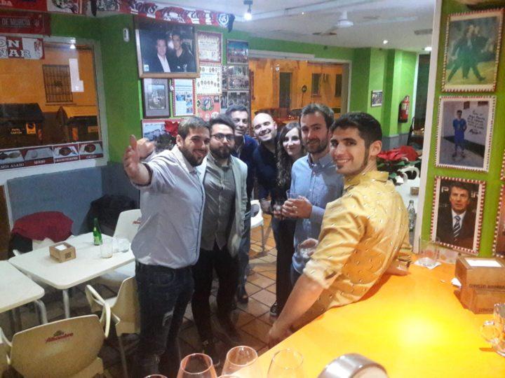 Aquí baja la media de edad: César Guisado, Fran Rodríguez, Julio Piñero, Toni Juárez, María José Ramírez, Jorge Ruiz y Fran Reyes