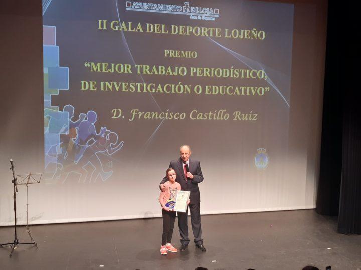 Paco Castillo quiso contar en el escenario con la presencia de su hija, que ya ha dado sus primeros pasos en la radio